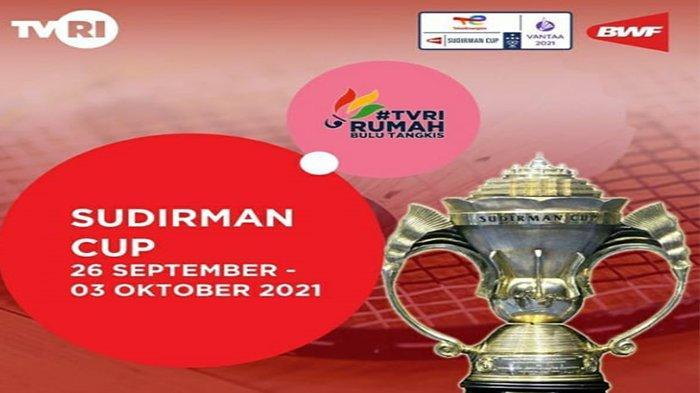 Sedang Berlangsung Badminton Sudirman Cup 2021 Lengkap Jadwal Tim Indonesia vs ROC Live TVRI, Vidio