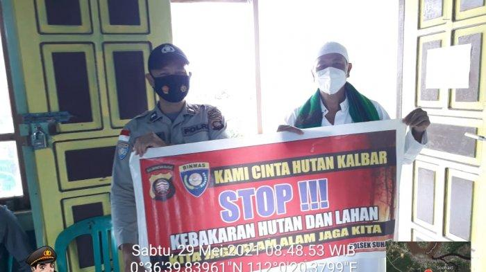 Cegah Karhutla, Kanit Binmas Polsek Suhaid Terus Sosialisasi Stop Karhutla