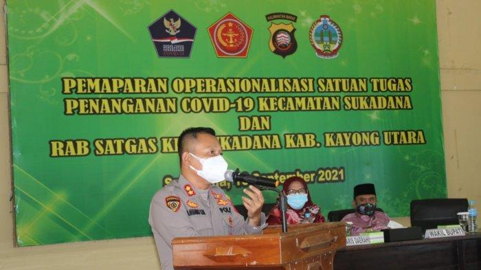 Kapolres Kayong Utara Hadiri Rapat Pemaparan Operasionalisasi Satgas Covid-19 di Kecamatan Sukadana