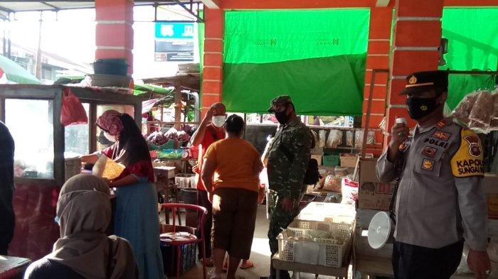 Personel Polsek Sungai Kunyit Gencar Lakukan Imbauan Penerapan Protokol Kesehatan