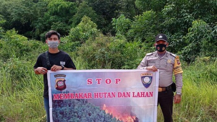 Bhabinkamtibmas Desa Sempurna Sosialisasi Cegah Kebakaran Hutan dan Lahan