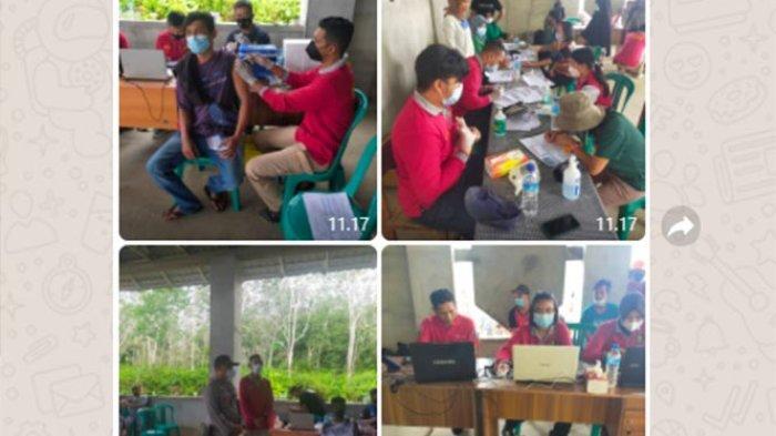 Sasar Masyarakat di Desa-desa, Polres Sintang Gelar Vaksinasi di Desa Sungai Naram