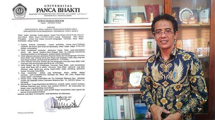 Rektor UPB Pontianak Keluarkan Surat Edaran Terkait Perpanjangan Masa Darurat Covid-19