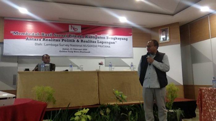 Nusakom Pratama Gelar Rilis Pilkada Bengkayang, OTT KPK Disebut Pengaruhi Situasi Politik
