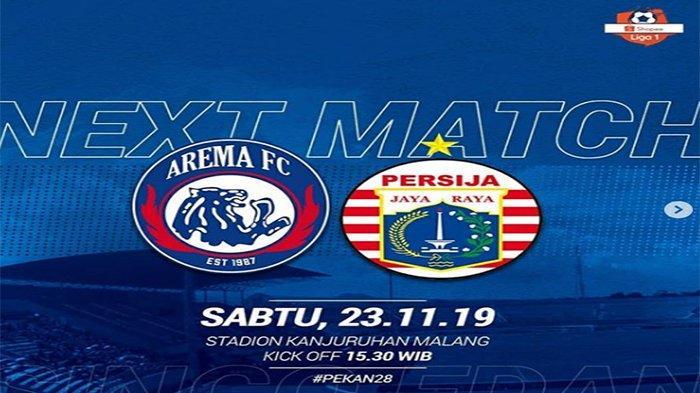 Live Streaming Indosiar Arema Vs Persija Shoppe Liga 1, Sedang Berlangsung ! Skor Masih Imbang 0-0