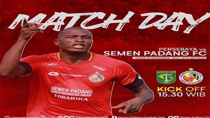 Live Streaming Indosiar Persebaya Vs Semen Padang Liga 1 Hari Ini, Diogo Campos Duet David da Silva