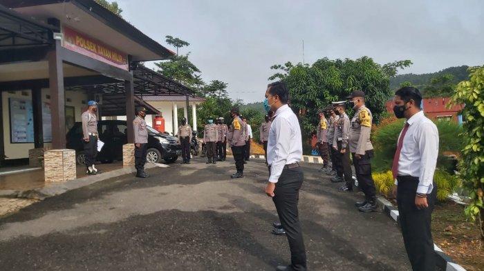 Pimpin Apel Pagi, Kapolsek Tayan Hilir Sampaikan Anev Kinerja Anggota