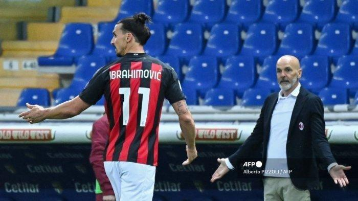 LINE Up AC Milan Kontra Benevento di Liga Italia Malam Ini Zlatan Ibrahimovic Starter