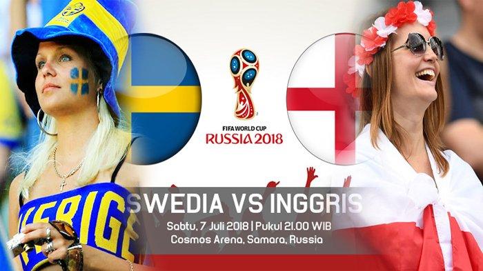 LIVE PIALA DUNIA Swedia Vs Inggris di TransTV! Tonton Live Streaming Melalui Cara Ini