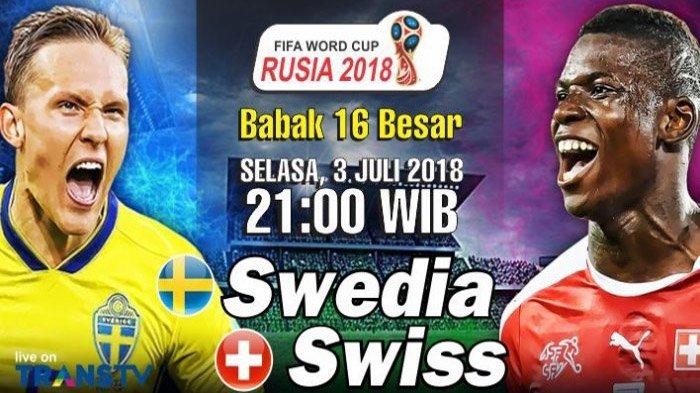 Sedang Berlangsung! LIVE Swedia Vs Swiss di TransTV! Live Streaming dengan Cara Ini