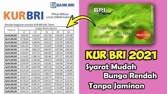 Syarat Pinjaman Online KUR Kecil Bank BRI Login https://kur.bri.co.id Daftar KUR BRI