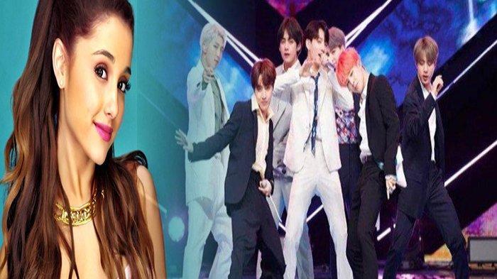 Tak Disangka! Reaksi Ariana Grande saat Penggemar Bahas Tentang Member BTS Ini di Postingan