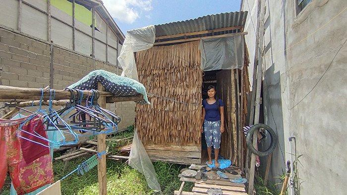 Kisah Keluarga di Kota Pontianak, Hidup di Rumah Gubuk Berdinding Daun
