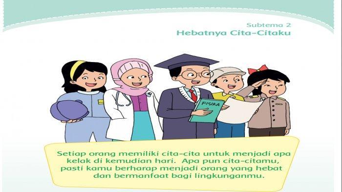 Kunci Jawaban Kelas 4 Tema 6 Halaman 62 63 64 65 Subtema 2 Pembelajaran 1 Hebatnya Cita Citaku Tribun Pontianak