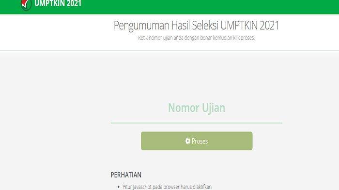 Pengumuman Hasil Tes UMPTKIN 2021 di Https //pengumuman.um-ptkin.ac.id atau Https //um-ptkin.ac.id