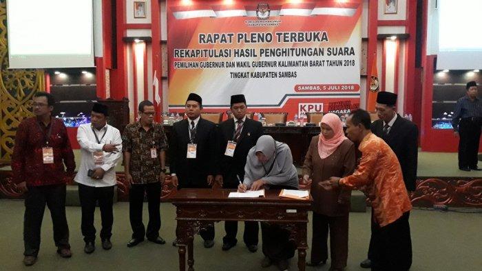 Pleno Rekapitulasi, Midji-Norsan Menang Telak di Kabupaten Sambas