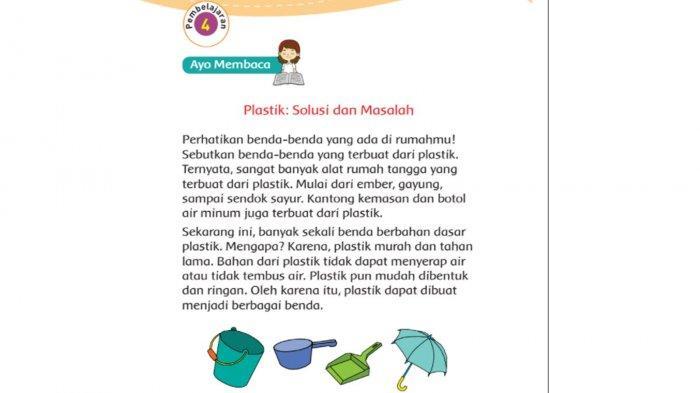 KUNCI Jawaban Tema 3 Kelas 3 Halaman 35 36 37 dan 38 Buku Tematik SD: Plastik, Solusi dan Masalah
