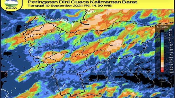 Satelit Cuaca Pantau Ekor Badai di Kalbar, BMKG Prakirakan Hujan dan Angin Durasi Singkat