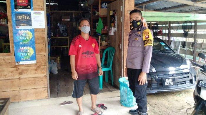 Sambangi Warga Binaan, Bhabinkamtibmas Desa Semanget Sampaikan Imbauan Protokol Kesehatan