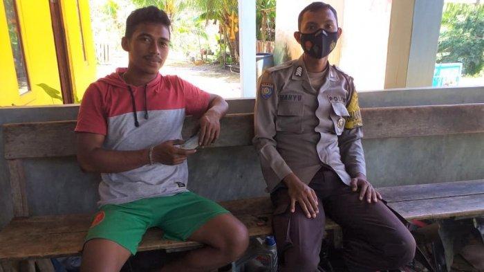 Sambangi Warga, Bripka Wahyu Ari Wibowo Ajak Disiplin Terapkan Protokol Kesehatan