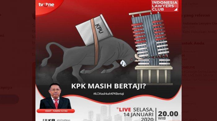 Live Streaming ILC TVOne Selasa (14/1) Malam Ini, Karni Ilyas: 'KPK Masih Bertaji?'