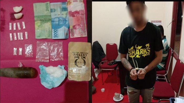 BREAKING NEWS - Polisi Tangkap Terduga Pengedar Sabu di Anjungan, Sembunyikan BB Pakai Alu Lesung