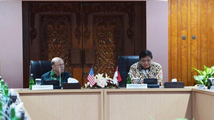 Terima Kunjungan Menteri Perdagangan AS, Menko Airlangga Dorong Kerjasama Perdagangan & Investasi
