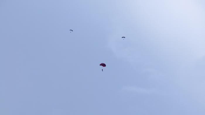 Ngeri! Sejumlah Penerjun Payung Nyaris Tertabrak Pesawat di Udara