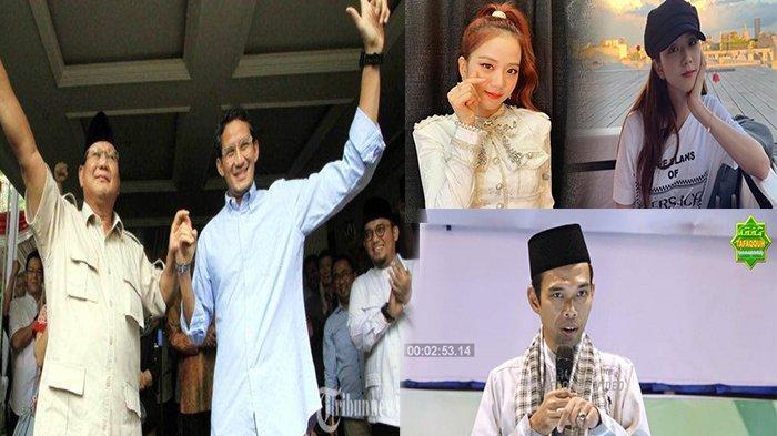 TERPOPULER - Kemungkinan Prabowo - Sandi Menang, Jisoo BLACKPINK, hingga Ustaz Abdul Somad