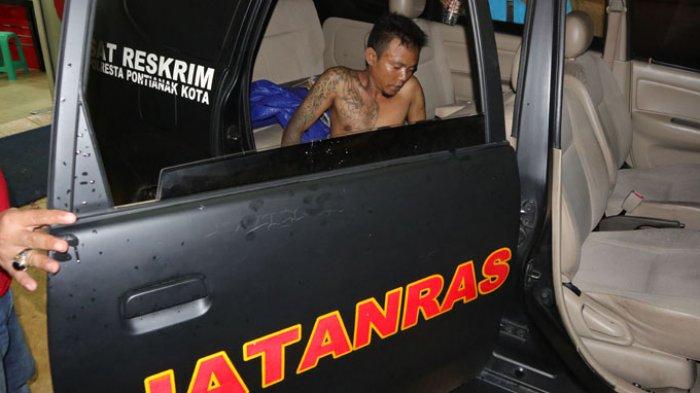 Jatanras Polresta Pontianak Tembak Tersangka Pelaku Jambret Mahasiswi, Lihat Foto-fotonya - tersangka-ditembak_20171130_001821.jpg