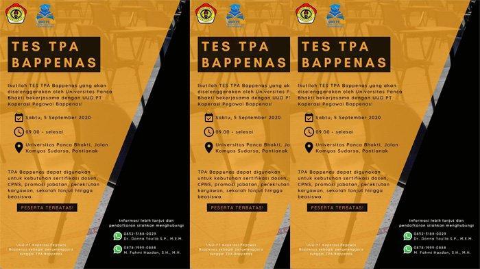 UPB Pontianak Siap Laksanakan Tes TPA Bappenas