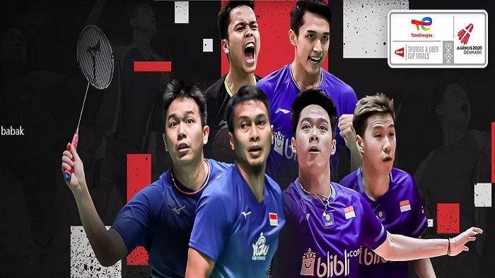 Live Skor Badminton Thomas Cup 2021 Sekarang Update Hasil Indonesia vs Taiwan Grup A