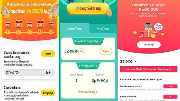 THR dari 3 Aplikasi Penghasil Uang Snack Video, Helo &Tiktok; Lite Bisa Hasilkan Uang Tiap Hari