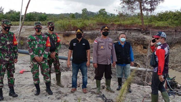 TNI-Polri Beserta Pemerintah Kecamatan Monterado Gelar Patroli Gabungan Beri Imbauan Larangan PETI