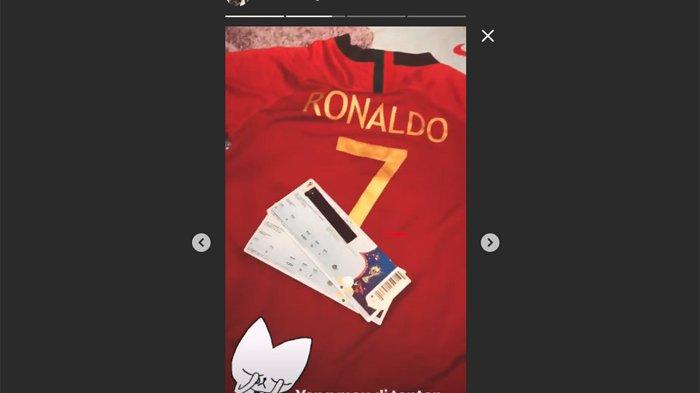 Kecewa Berat! Via Vallen Unggah Jersey Tiket Pesawat dan Visa, Niatnya Nonton Langsung C Ronaldo