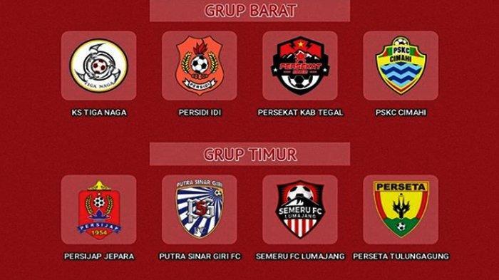 JADWAL Liga 3 Babak 8 Besar, 3 Tim Grup Timur dan 3 Tim Grup Barat Promosi Liga 2 Indonesia 2020