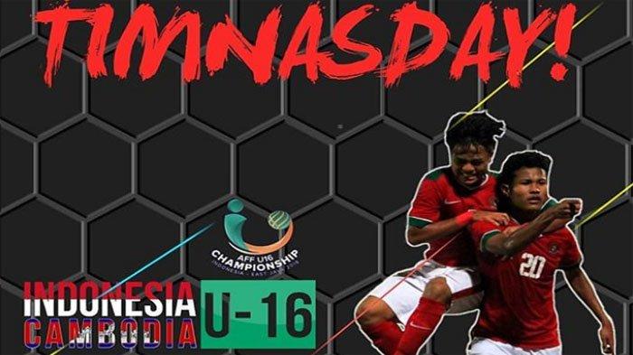 LIVE STREAMING Piala AFF U16 Indonesia vs Kamboja di Indosiar Pukul 19.00 WIB
