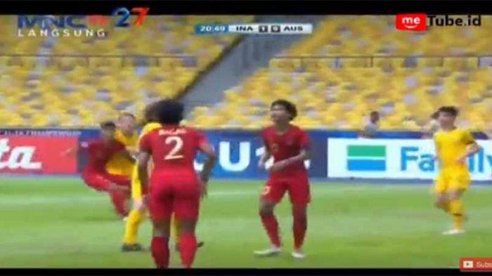 Timnas Unggul 1-0, Sedang Berlangsung LIVE STREAMING Timnas U-16 Indonesia vs Australia