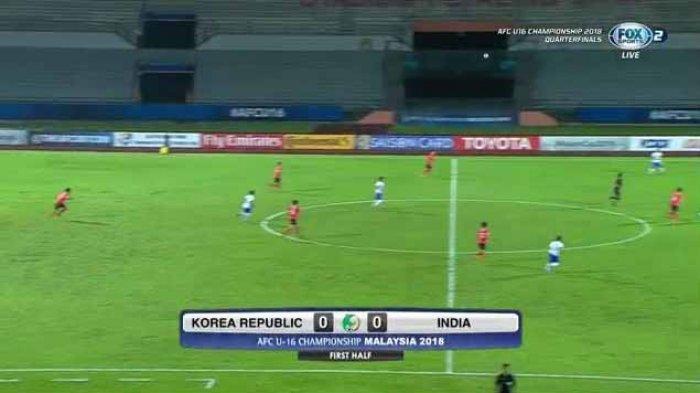 LIVE BOLA Babak II India Vs Korea Piala Asia AFC U16 Championship! Babak I Mandul Gol