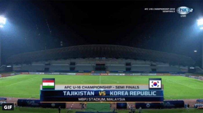 Skor Imbang (1-1), (LIVE) Adu Penalti Timnas U16 Tajikistan Vs Korea Selatan di Piala AFC 2018