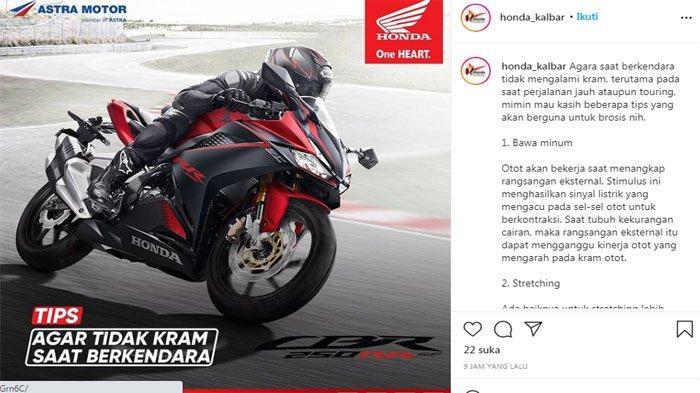 TIPS Agar Tangan Tak Kram Saat Berkendara ala Astra Motor Kalbar, Aman Jalan Jauh Pakai Sepeda Motor