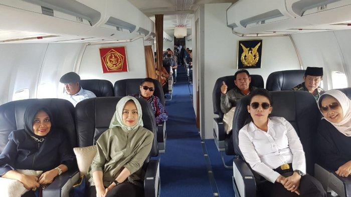 Tjhai Chui Mie Naik Pesawat TNI AU Ikuti Apeksi di Tarakan
