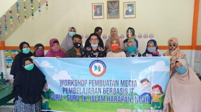 TK Islam Harapan Indah Pontianak Gelar Workshop Media Pembelajaran Virtual