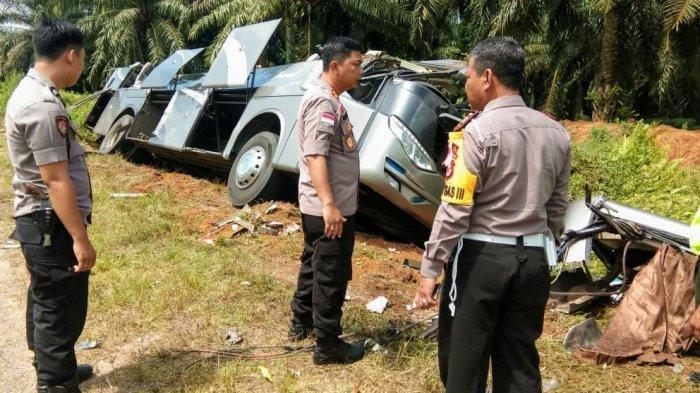 Polres Lamandau Selidiki Kecelakaan Bus Pangkalanbun Tujuan Pontianak