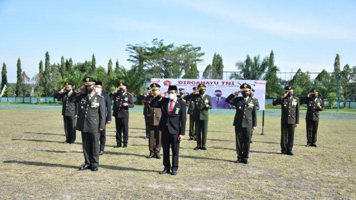 Korem 121/ABW Gelar Upacara Virtual, Presiden RI Pimpin Upacara Peringatan HUT ke-76 TNI di Istana
