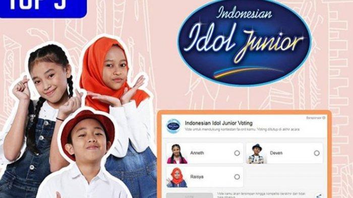 Live Streaming dan Vote Indonesian Idol Junior RCTI, Undangan Grand Final Jumat 14 Desember Habis