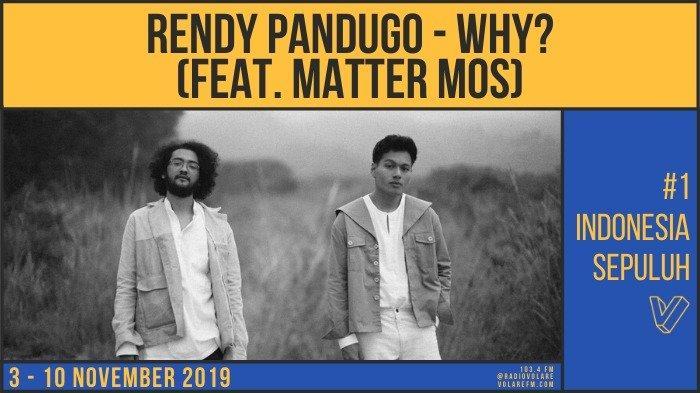 Top Ten Volare Musik Indo Pekan Ini, Why by Rendy Pandugo Duduki Peringkat Pertama