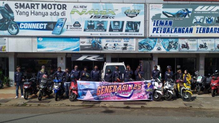 Touring ke Danau Lait Sanggau Sejauh 67 Km, Yamaha 125 cc Hanya Habiskan Seliter Bahan Bakar