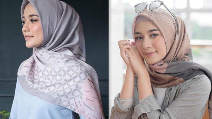 Trend Hijab2020, Kerudung Segi Empat Inspirasi Tampil Anggung saat Lebaran