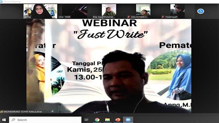 Lewat Webinar Just Write, HIMSI Pontianak Ajak Mahasiswa Menulis